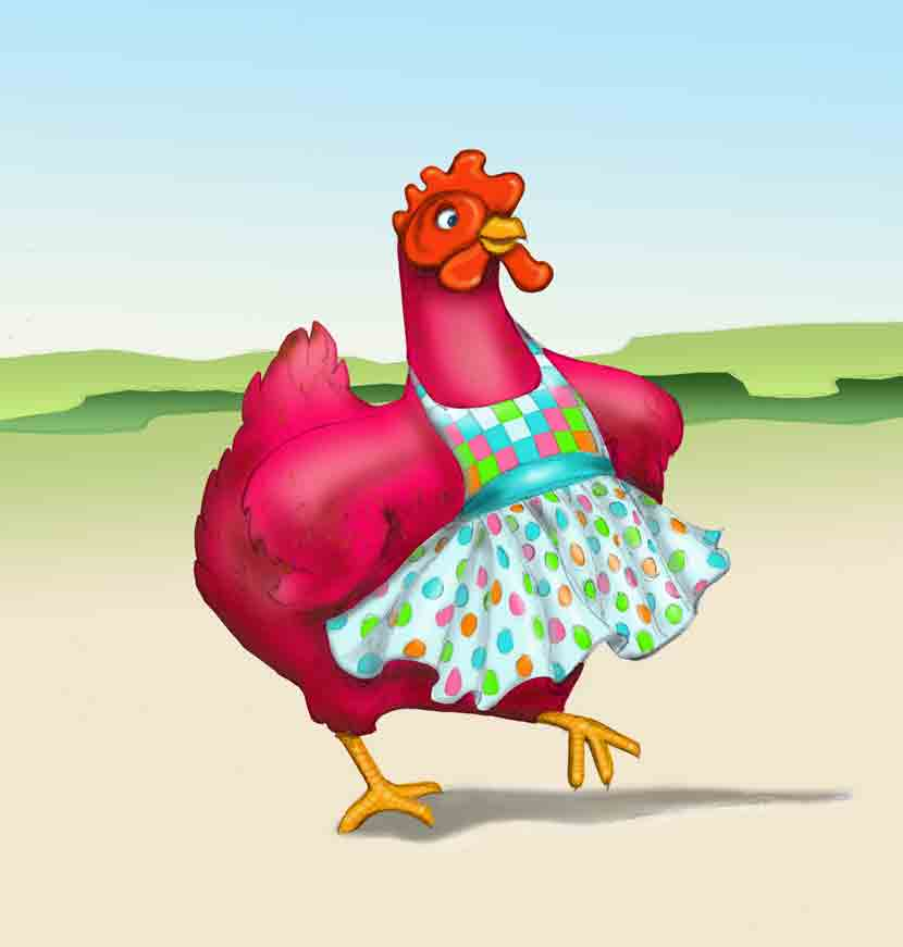 Dayle Dodwell's Illustration: Little Red Hen