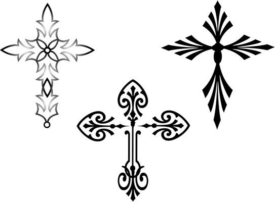 Simple Cross Tattoos Design