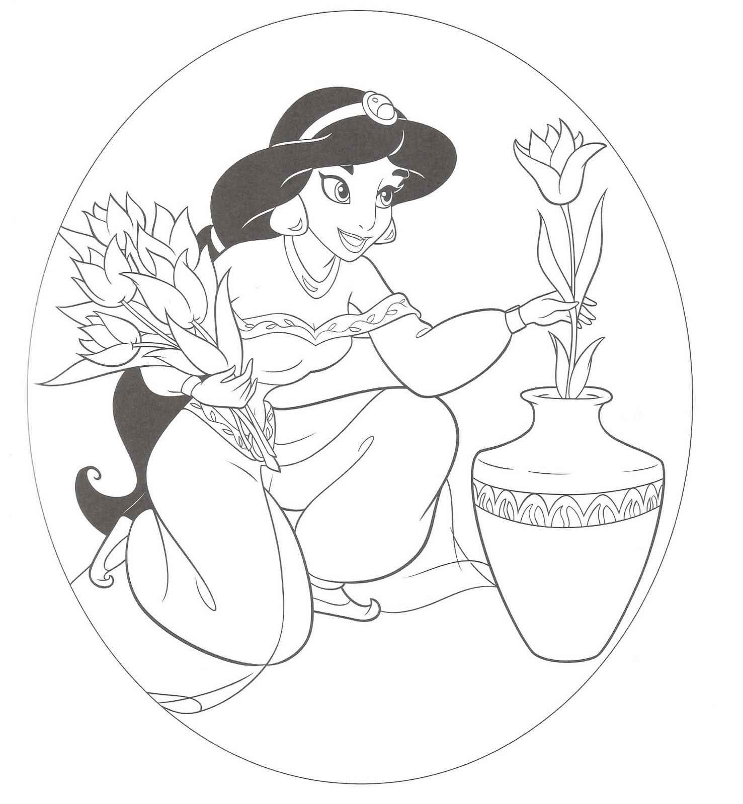 Coloring Book Pages Princess : Disney princess coloring pages for kids