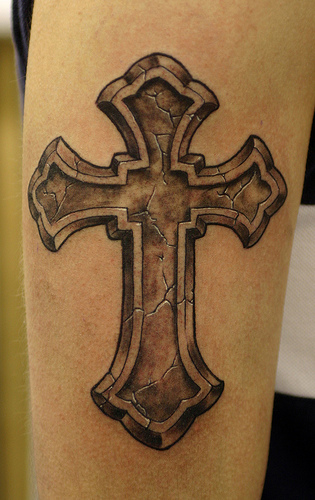 jesus cross drawing. jesus on cross tattoo.
