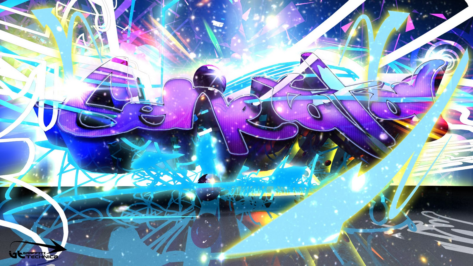 Amazing graffiti art background design