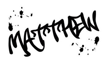 Stylus: Matthew graffiti name \