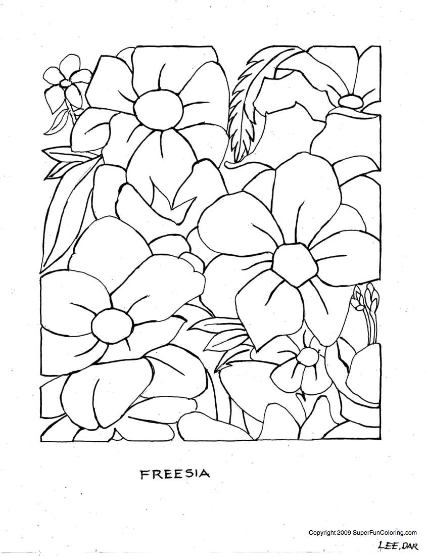 Flower Coloring Free Printable