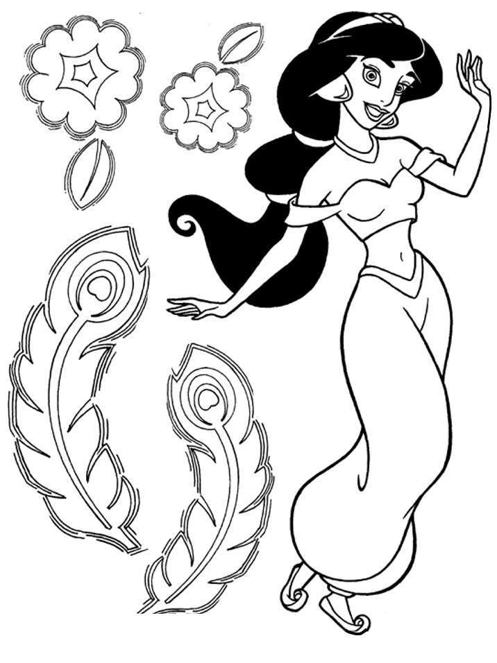disney princess jasmine coloring pages - photo#28