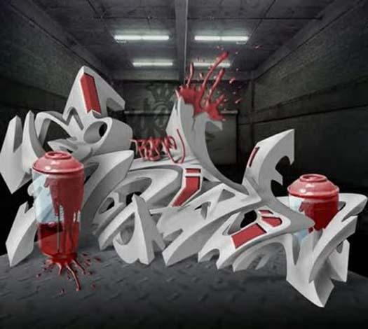 3d Graffiti Free Fonts Alphabet Letters