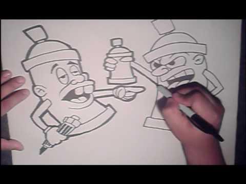 New Graffiti Letters Graffiti Cartoon Cans Funny Graffiti Design
