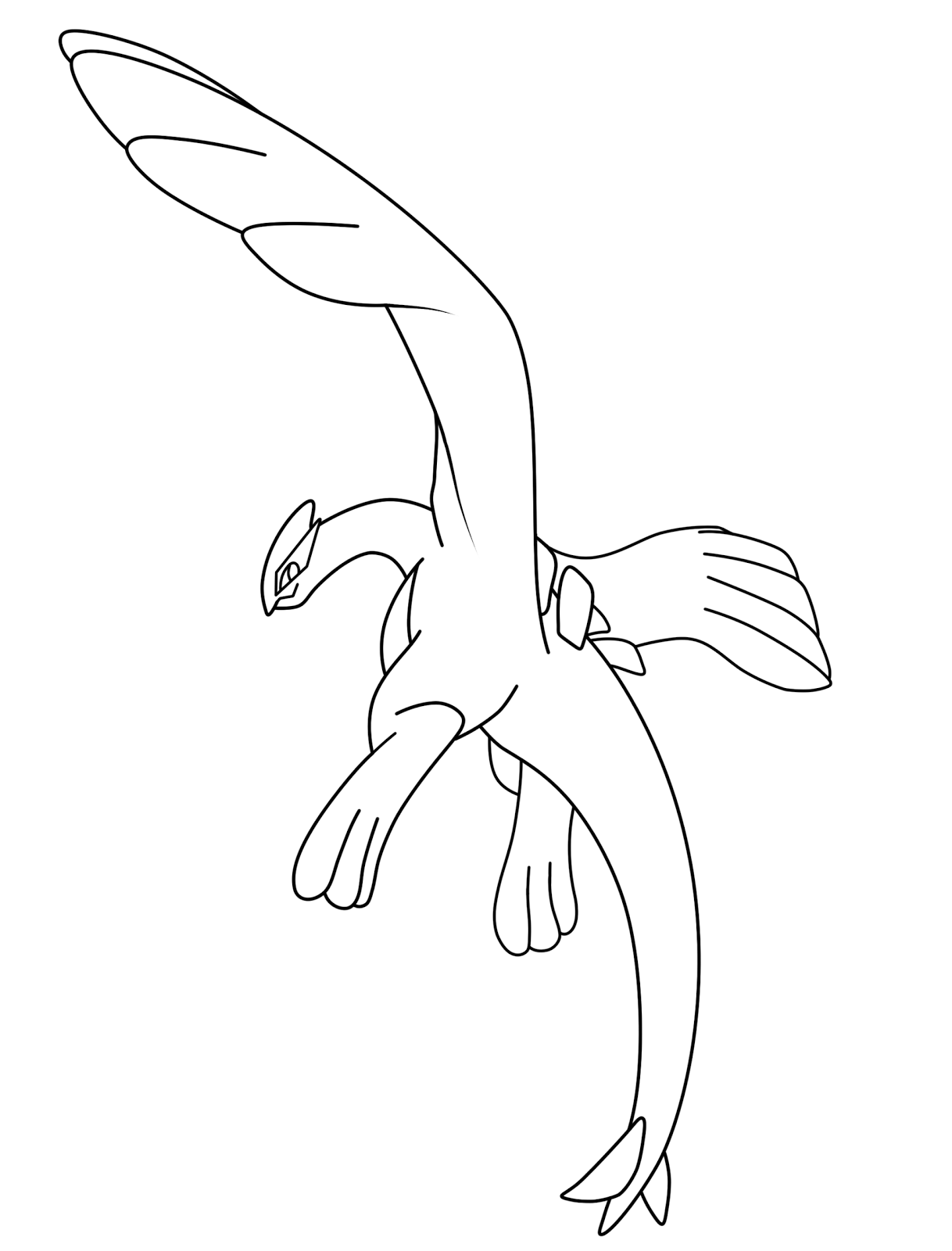 Free Printable Pokemon Lugia Coloring