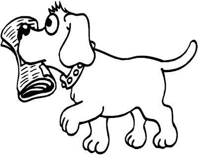 transmissionpress: Animal Coloring : Funny and Cute Dog Coloring Pages