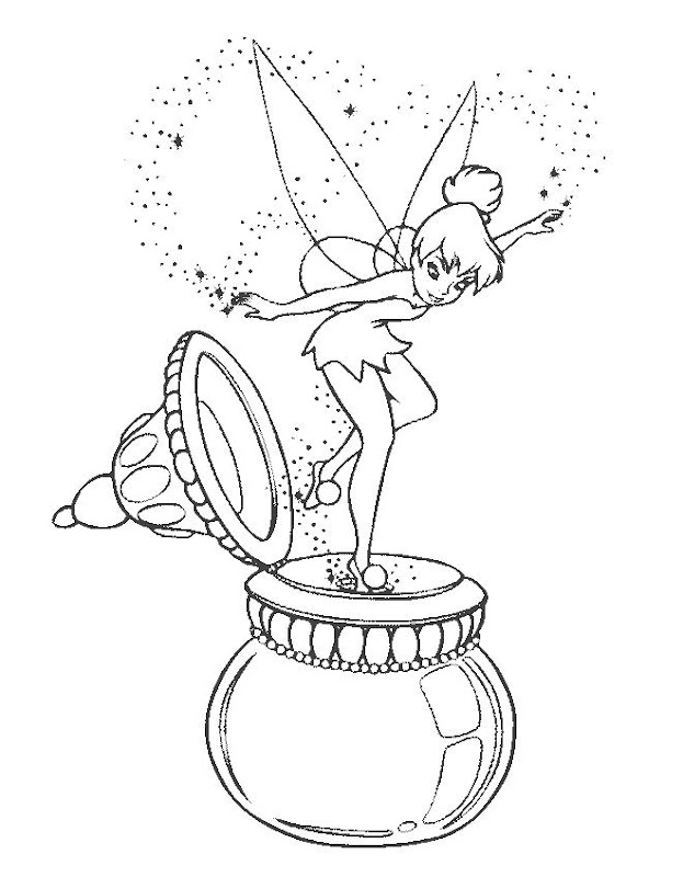 Disneyland Tinkerbell : Free Printable Tinkerbell Coloring Pages title=