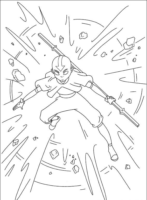 Free printable avatar aang coloring pages kentscraft for Avatar coloring pages