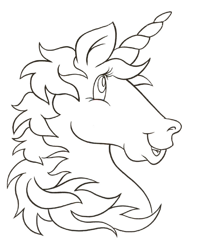 Selective image for printable coloring pages unicorn