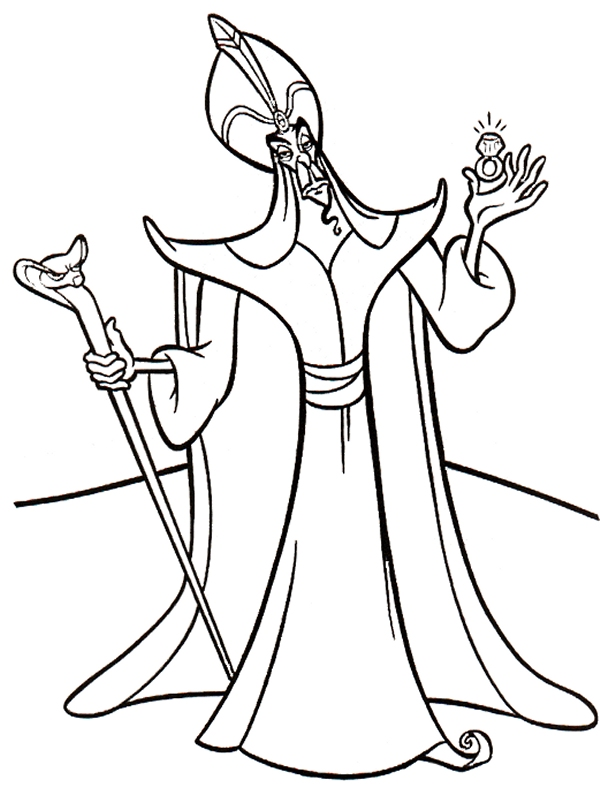 disney villains coloring book pages - photo#20