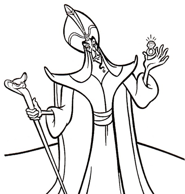 jafar coloring pages transmissionpress: Free Printable