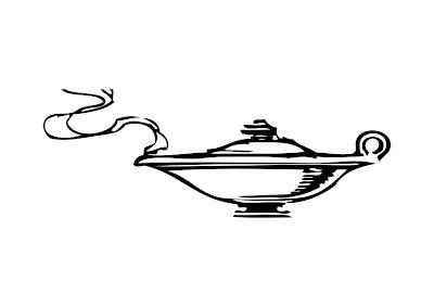 Aladdin Genie Lamp Coloring