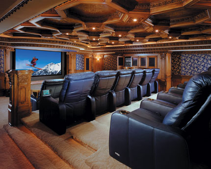 luxury home theater design ideas. Black Bedroom Furniture Sets. Home Design Ideas