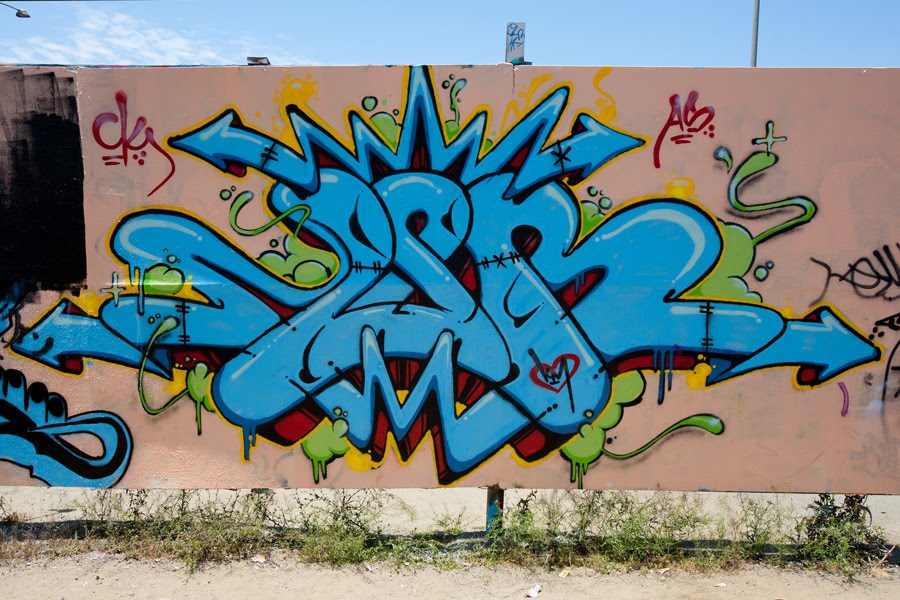 Graffiti Wildstyle Alphabet Letters Blue Color