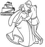 Cinderella And Prince Charming Coloring Pages