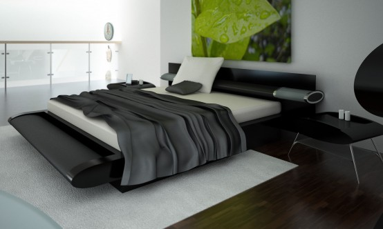 Modern bedroom decorating ideas nfor men for Black and white bedroom ideas for men