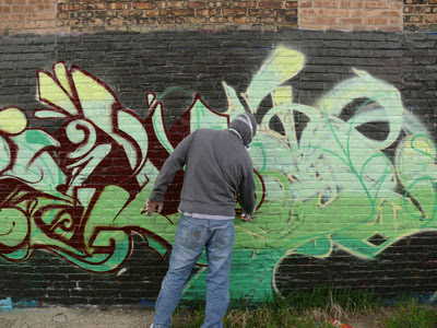 Amazing Green Graffiti
