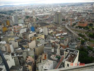 Vista desde o mirante do prédio do Banespa - São Paulo -SP