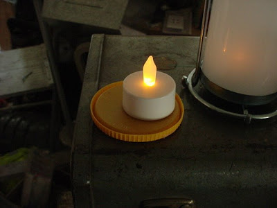 Diy trash to treasure how to make your own solig lanterns for Ikea tea light battery