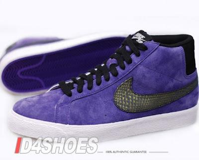 Nike Blazer Haute Suédine Violet Premium