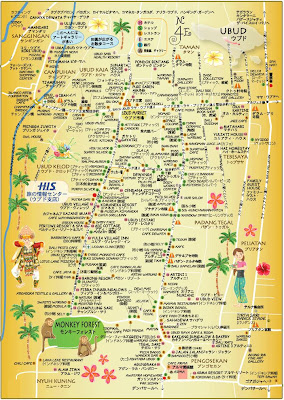 Images And Places Pictures And Info Bali Map Ubud