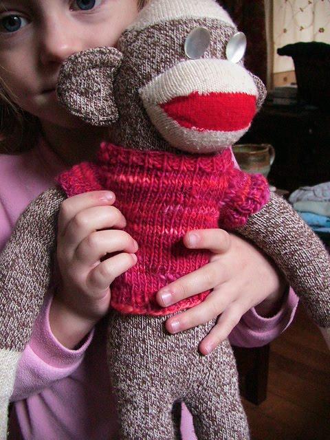 Knitting Pattern For Sock Monkey Sweater : Delaneys Duds: Sock Monkey Sweater Pattern