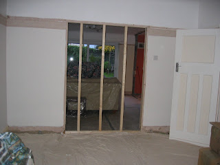 french doors between lounge and dining room studded and bricked up & home improvements: french doors between lounge and dining room ...