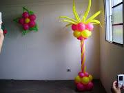 Balão DOURADO: Colunas (balã£o )