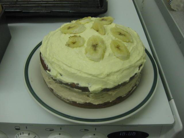 banana day double layer banana cake square banana cake with almond ...