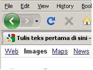 Membina teks bergerak pada menu bar