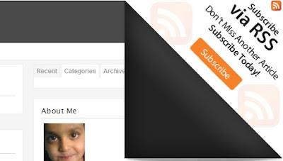 Membina muka surat selak (Page Peel) pada bahagian penjuru atas blog