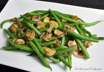 green beans with creamy mushrooms and shallots recipes dishmaps green ...