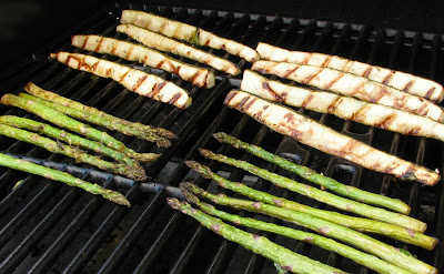 Grilled Asparagus and Zucchini Spears with Parmesan Cheese