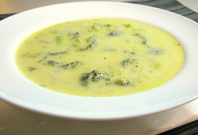 Broccoli and Sharp Cheddar Soup