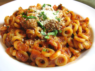 Spaghetti-O's with Turkey Meatballs
