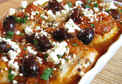 Chicken in Tomato Sauce with Kalamata Olives and Feta