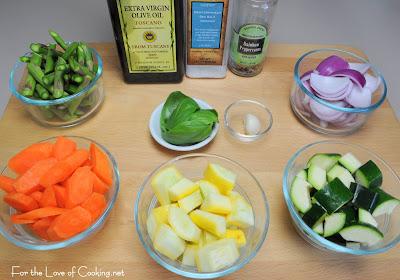 Mixed Vegetable Sauté with Fresh Basil