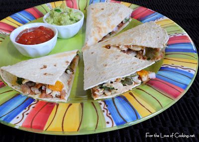 Chicken and Roasted Pepper Quesadillas
