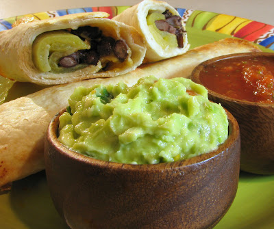 Black Bean, Green Chile and Sharp Cheddar Baked Flautas | For the Love ...