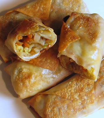 Baked Vegetable Egg Rolls | For the Love of Cooking Vegetarian Egg Rolls