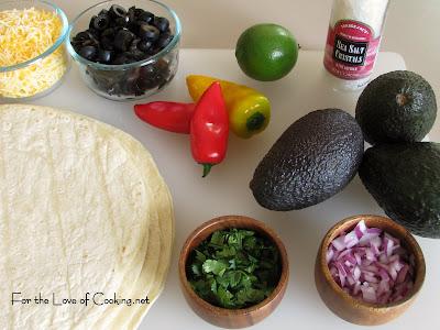 Avocado and Olive Quesadillas