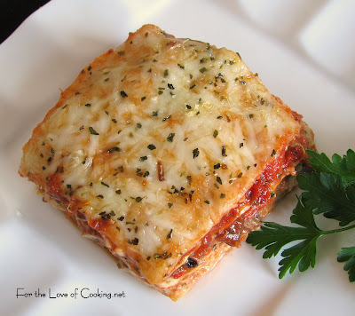Roasted Vegetable Lasagna | For the Love of Cooking