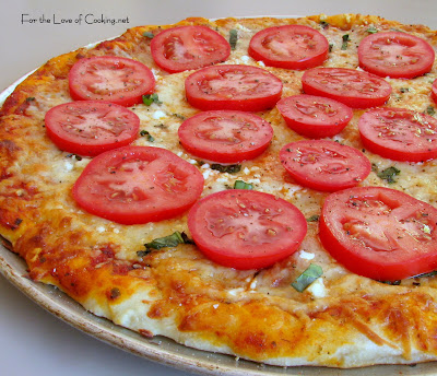 Tomato, Basil, Feta and Garlic Pizza | For the Love of Cooking