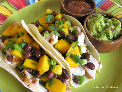 lime a nd chile chicken with mango a nd red bell pepper salsa corn a ...