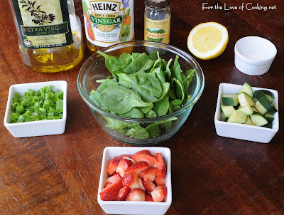 Strawberry Spinach Salad with Poppy Seed Vinaigrette