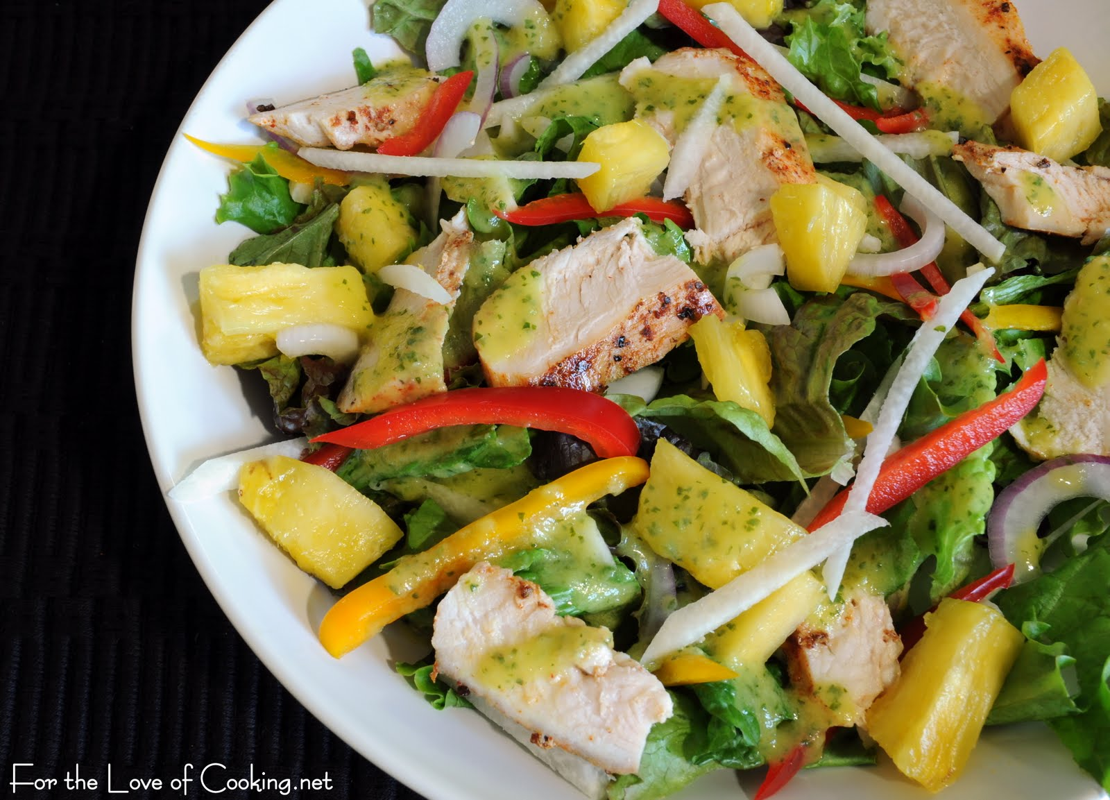 Grilled Chicken Salad with Spicy Pineapple Dressing | For ...