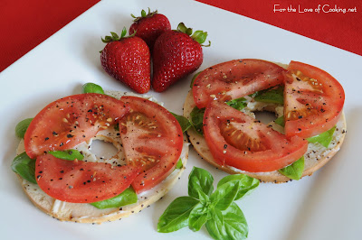 Tomato and Basil Sandwich with a Twist