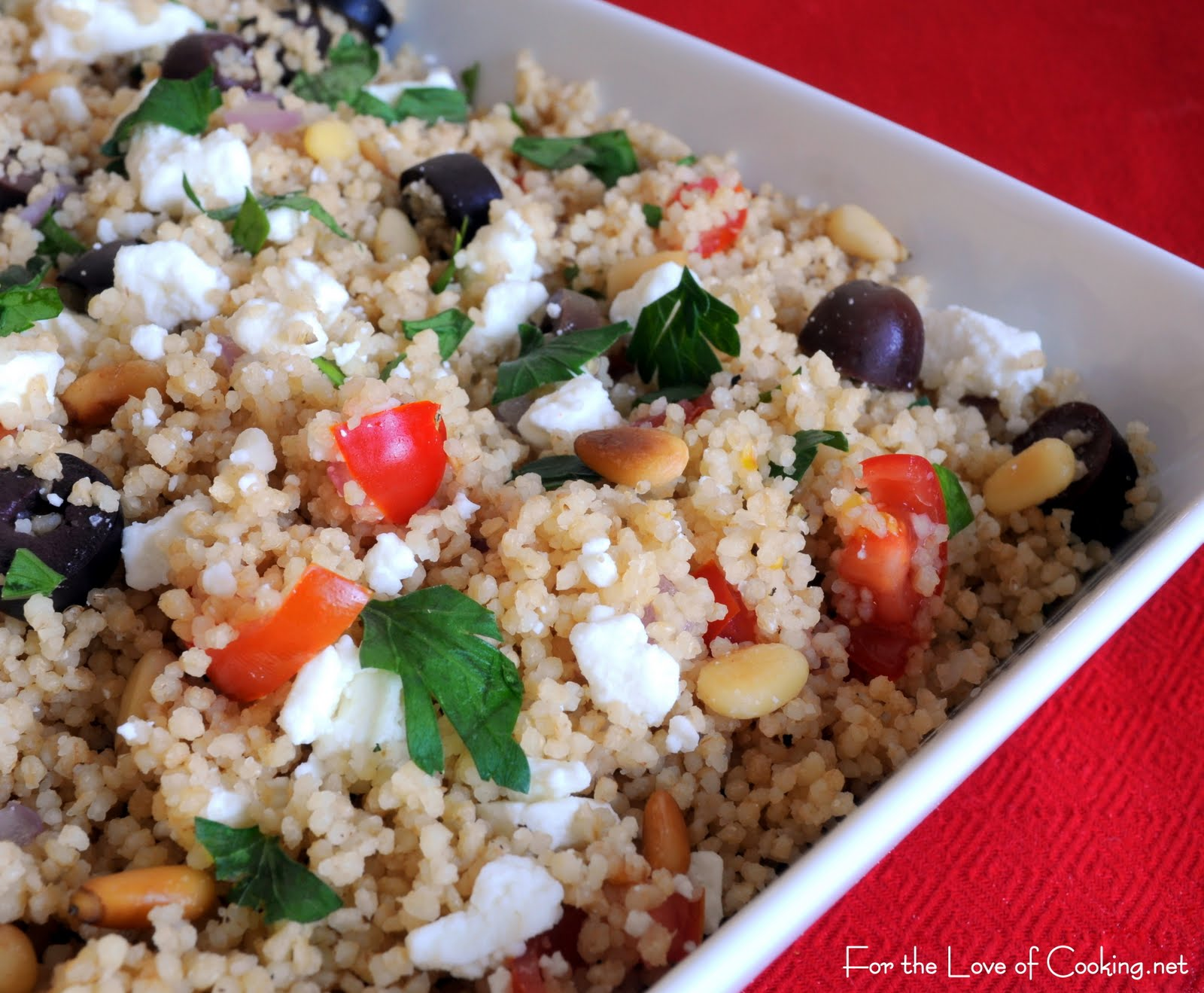Couscous with Kalamata Olives, Pine Nuts, and Feta Cheese | For the ...